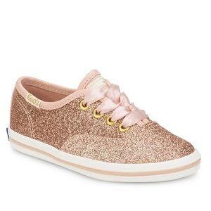 Keds Kate Spade Glitter Sneakers size 5 Infant